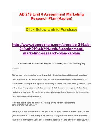 unit 6 research assignment 1 Write my research paper tutorial assignment grading rubric course: it332 unit: 6, assignment 1 points: 30 note: unit 6 has two assignments: assignment 1 [.