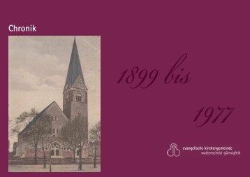 Chronik der Evangelischen Kirchengemeinde Wattenscheid-Günnigfeldt 1899-1977