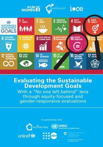 Evaluating the Sustainable Development Goals