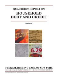 HOUSEHOLD DEBT AND CREDIT