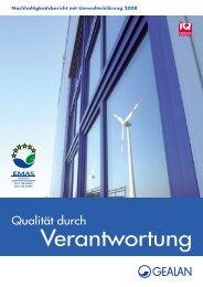 GEALAN Nachhaltigkeitsbericht mit Umwelterklärung - Pentaplast