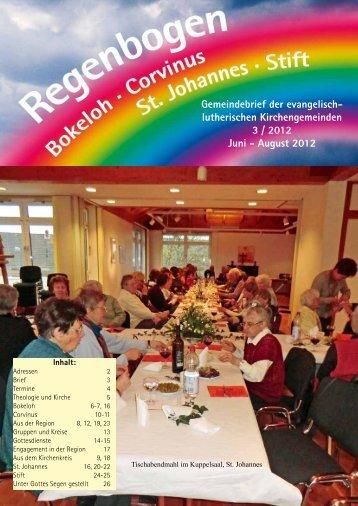 Regenbogen 3 / 2012 Juni - August - Ev.-Luth. Kirchengemeinde St ...