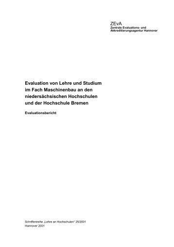 ZEvA Evaluation von Lehre und Studium im Fach Maschinenbau an ...