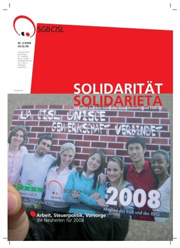 buch 2008 - SGB - CISL