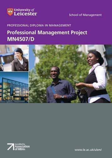 PMP module book final.pdf - Blackboard - University of Leicester