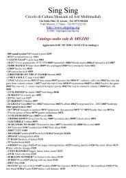 Catalogo audio sede di AREZZO - Sing Sing