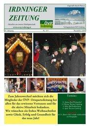 IRDNINGER ZEITUNG - Marktgemeinde Irdning