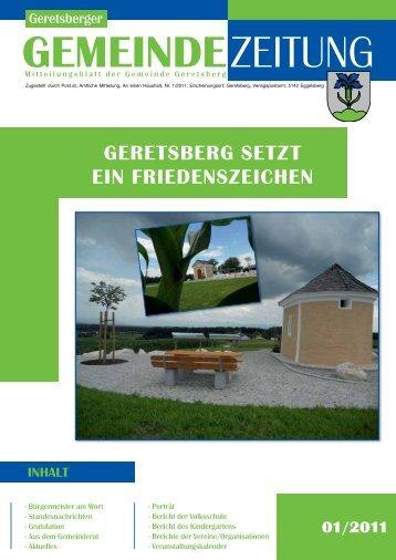 Gemeindezeitung 1/2011 - Gemeinde Geretsberg