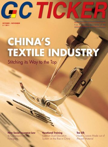 China's TexTile indusTry - AHK - AHKs