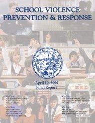 SCHOOL VIOLENCE PREVENTION & RESPONSE SCHOOL ...