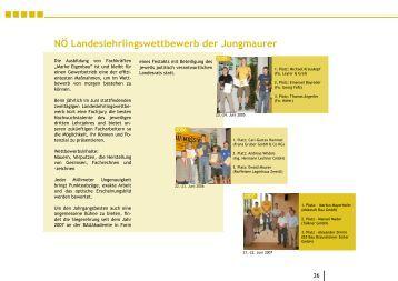 NÖ Landeslehrlingswettbewerb der Jungmaurer - Landesinnung Bau