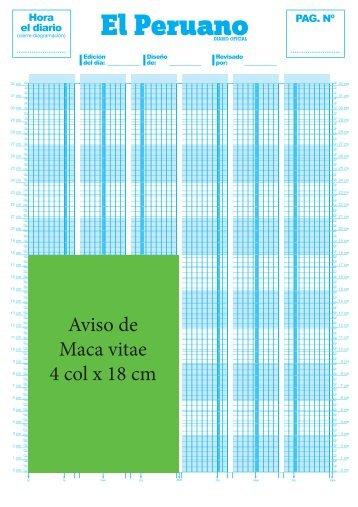 Aviso de periodico 4 colum x 18 cm