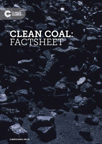 CLEAN COAL FACTSHEET