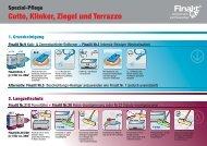 Cotto, Klinker, Ziegel und Terrazzo Spezial-Pflege Alternativ - Finalit