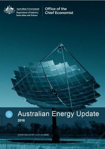 Australian Energy Update 2016