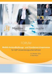 Mobile Instandhaltungs- und Kundenserviceprozesse - Movilitas.com