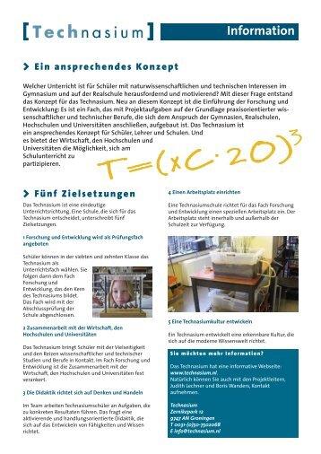 Information > Ein ansprechendes Konzept - Technasium