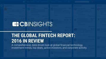 THE GLOBAL FINTECH REPORT 2016 IN REVIEW