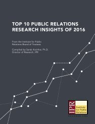 TOP 10 PUBLIC RELATIONS RESEARCH INSIGHTS OF 2016
