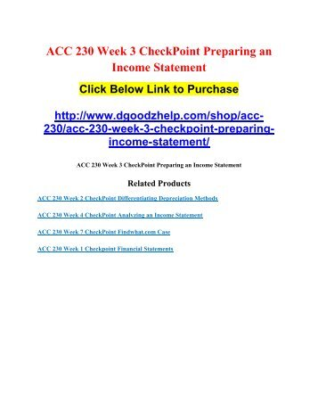ACC 230 Week 2 Assignment Lucent Technologies Case