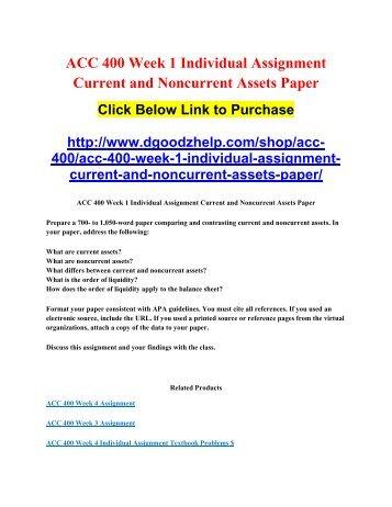 Accounting400 week 5