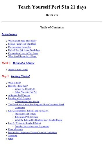 (ebook pdf) Teach Yourself Perl in 21 Days