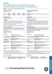 TSP 30 - Thyssenkrupp Materials Schweiz