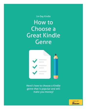 How to Choose a Kindle Genre - Make Money as An Amazon Author