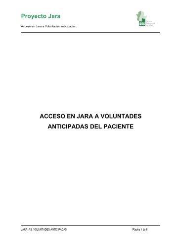 ACCESO EN JARA A VOLUNTADES ANTICIPADAS DEL PACIENTE
