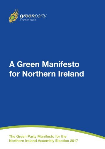A Green Manifesto for Northern Ireland