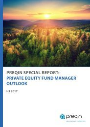 PREQIN SPECIAL REPORT PRIVATE EQUITY FUND MANAGER OUTLOOK