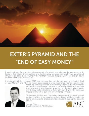 "EXTER'S PYRAMID AND THE ""END OF EASY MONEY"""