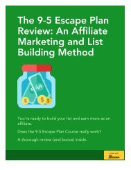9-5 Escape Plan Review and Bonus - Is This Affiliate Marketing Course Worth It?