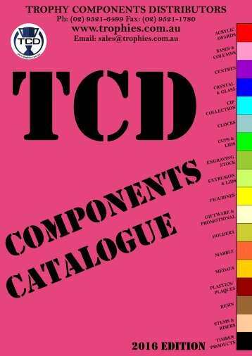 TCD Trophy Components Book