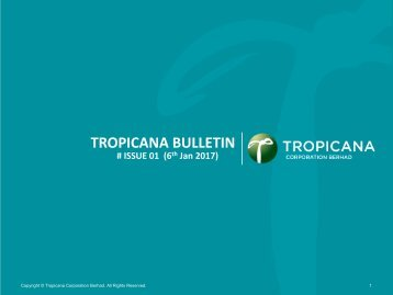 Tropicana Bulletin Issue 01