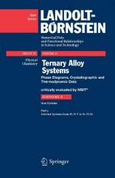Ternary Alloy Systems Phase Diagrams, Crystallographic and ...