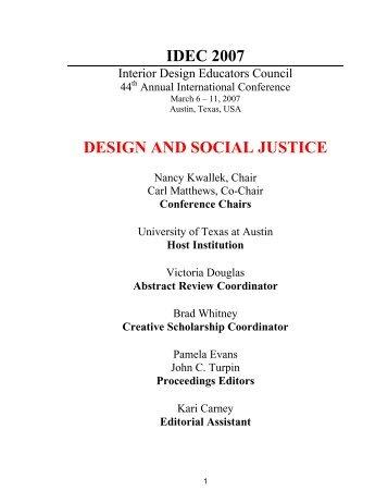 IDEC Social Networking Policy Interior Design Educators Council