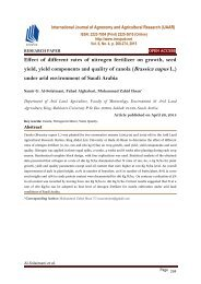 Effect of different rates of nitrogen fertilizer on growth, seed yield, yield components and quality of canola (Brassica napus L.) under arid environment of Saudi Arabia