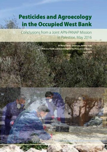 Pesticides and Agroecology in the Occupied West Bank