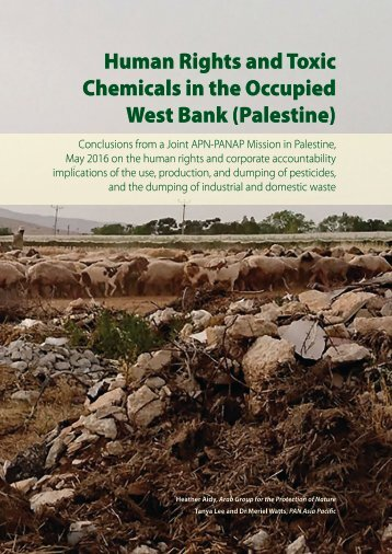 Human Rights and Toxic Chemicals in the Occupied West Bank (Palestine)