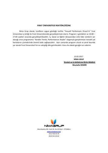Fırat Üniversitesi Dilekçe
