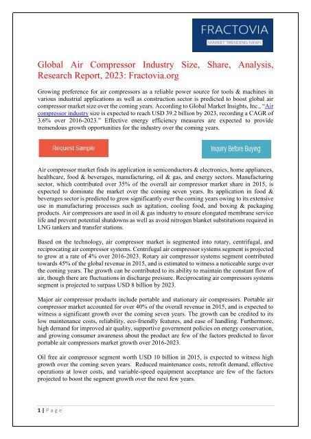 PDF - Air Compressor Market Fractovia