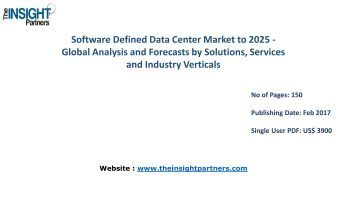 Software Defined Data Center Market Analysis (2016-2025) |The Insight Partners