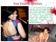 Goa escorts services on effective cost