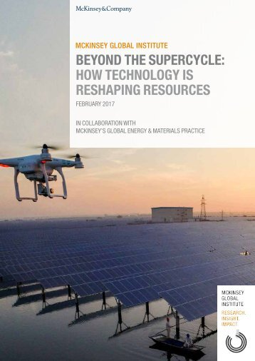 BEYOND THE SUPERCYCLE HOW TECHNOLOGY IS RESHAPING RESOURCES
