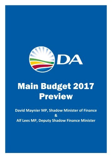 Main Budget 2017 Preview