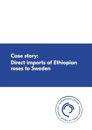Case story Direct imports of Ethiopian roses to Sweden