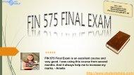 FIN 575 Final Exam 2016 Pdf Download at Studentehelp