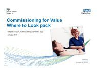 Commissioning for Value Where to Look pack
