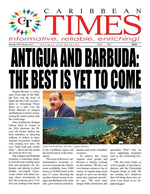 Caribbean Times 1st Issue - Monday 20th February 2017